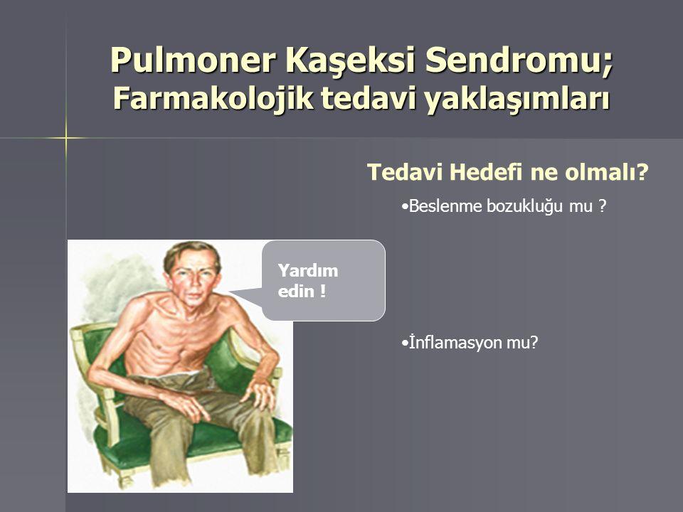 Pulmoner Kaşeksi Sendromu; Farmakolojik tedavi yaklaşımları