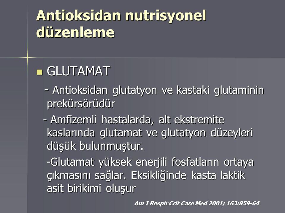 Antioksidan nutrisyonel düzenleme