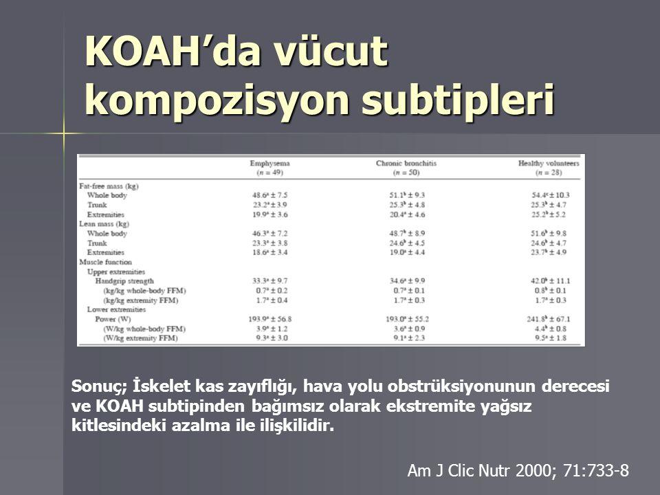 KOAH'da vücut kompozisyon subtipleri