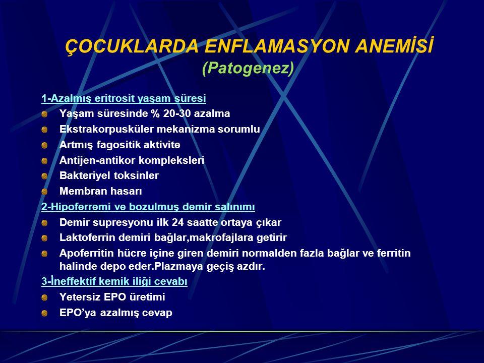 ÇOCUKLARDA ENFLAMASYON ANEMİSİ (Patogenez)