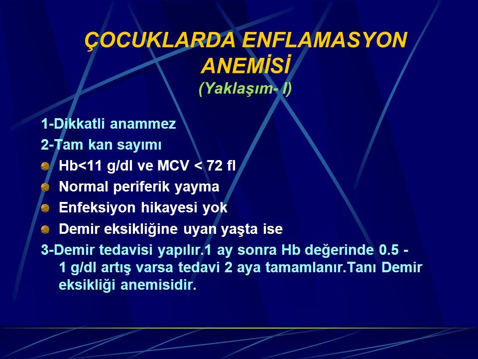 ÇOCUKLARDA ENFLAMASYON ANEMİSİ (Yaklaşım- I)