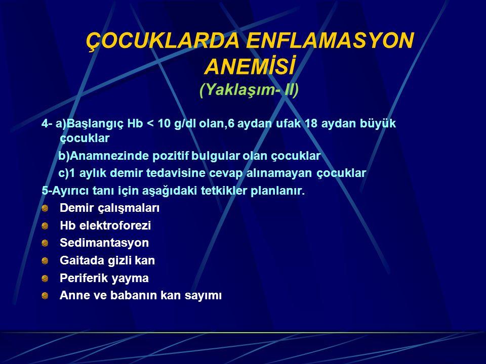ÇOCUKLARDA ENFLAMASYON ANEMİSİ (Yaklaşım- II)