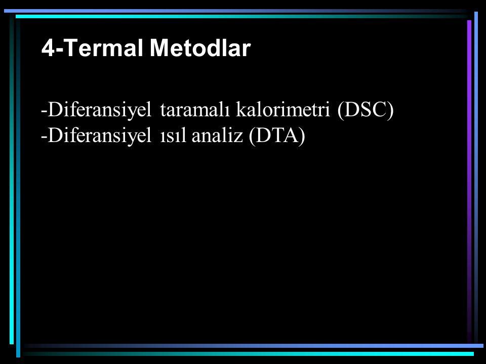 4-Termal Metodlar Diferansiyel taramalı kalorimetri (DSC)