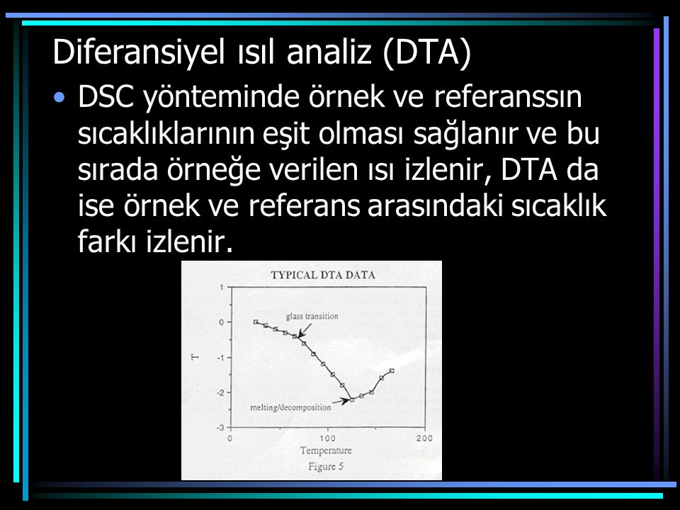 Diferansiyel ısıl analiz (DTA)