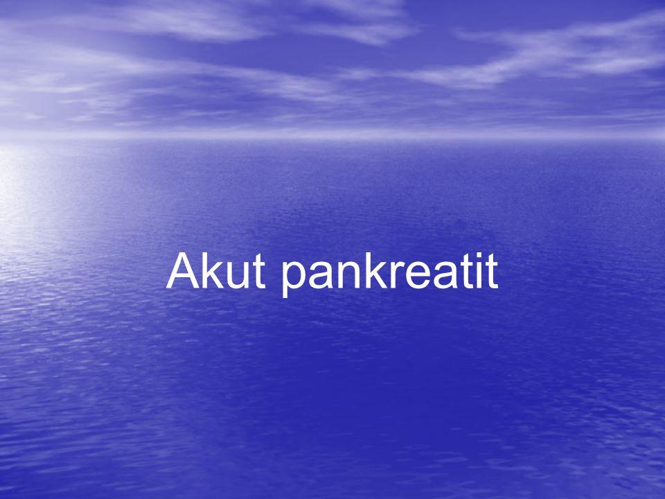 Akut pankreatit