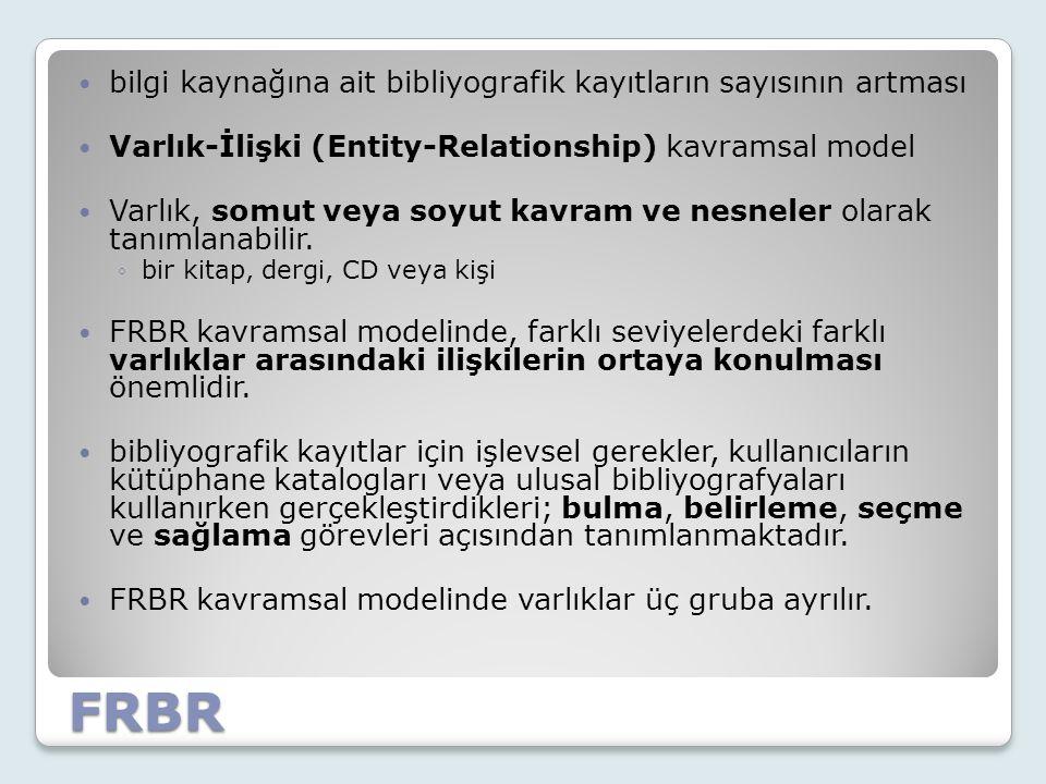 FRBR bilgi kaynağına ait bibliyografik kayıtların sayısının artması