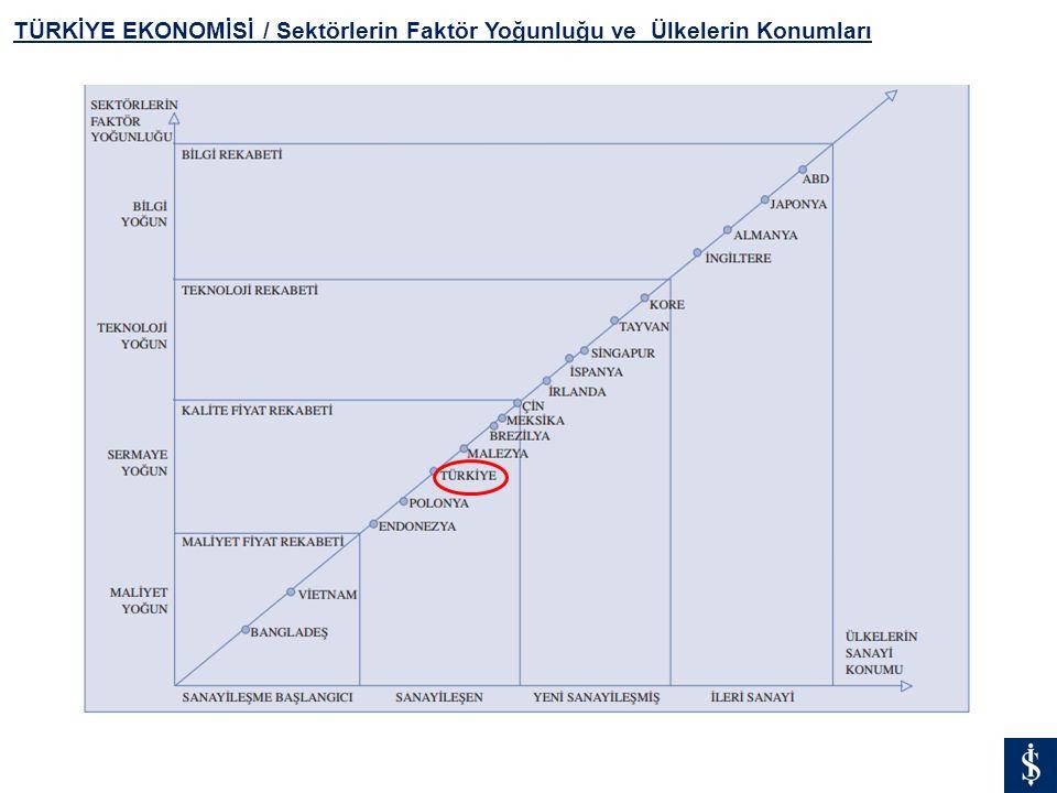 TÜRKİYE EKONOMİSİ / Sektörlerin Faktör Yoğunluğu ve Ülkelerin Konumları