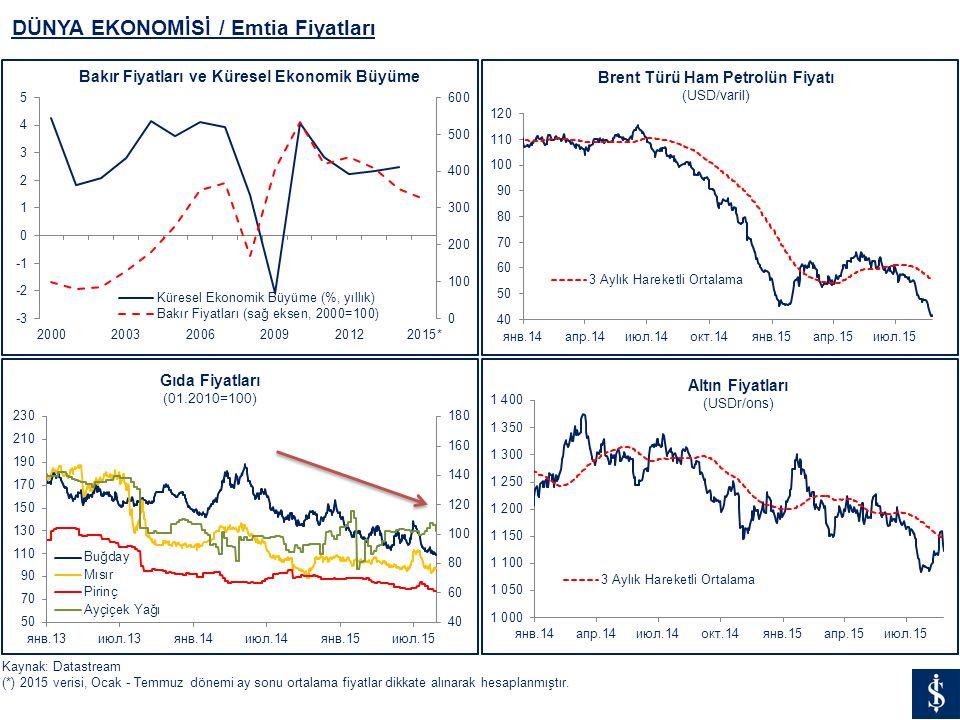 DÜNYA EKONOMİSİ / Emtia Fiyatları