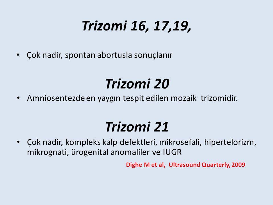 Trizomi 16, 17,19, Trizomi 20 Trizomi 21