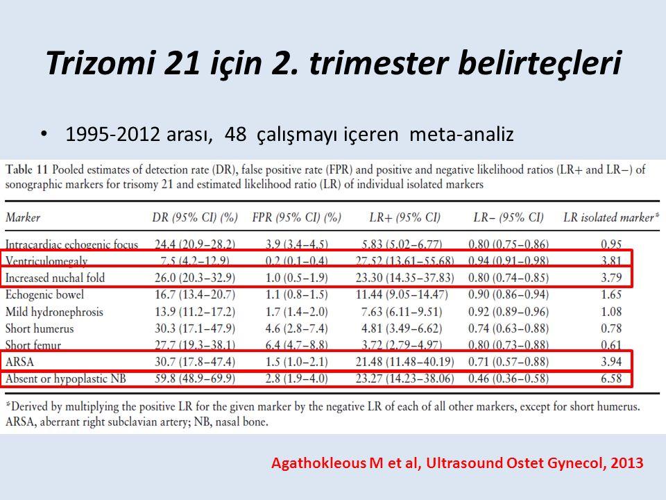 Trizomi 21 için 2. trimester belirteçleri