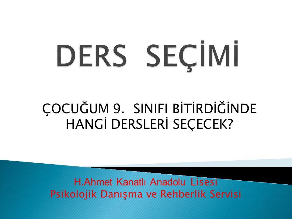 H.Ahmet Kanatlı Anadolu Lisesi Psikolojik Danışma ve Rehberlik Servisi