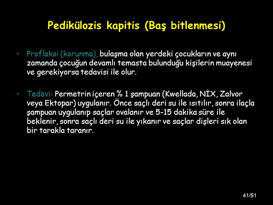 Pedikülozis kapitis (Baş bitlenmesi)