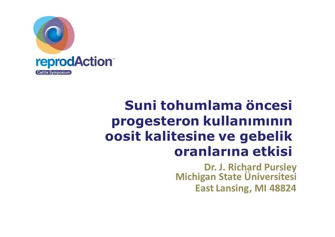 Suni tohumlama öncesi progesteron kullanımının oosit kalitesine ve gebelik oranlarına etkisi
