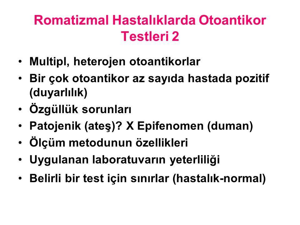 Romatizmal Hastalıklarda Otoantikor Testleri 2