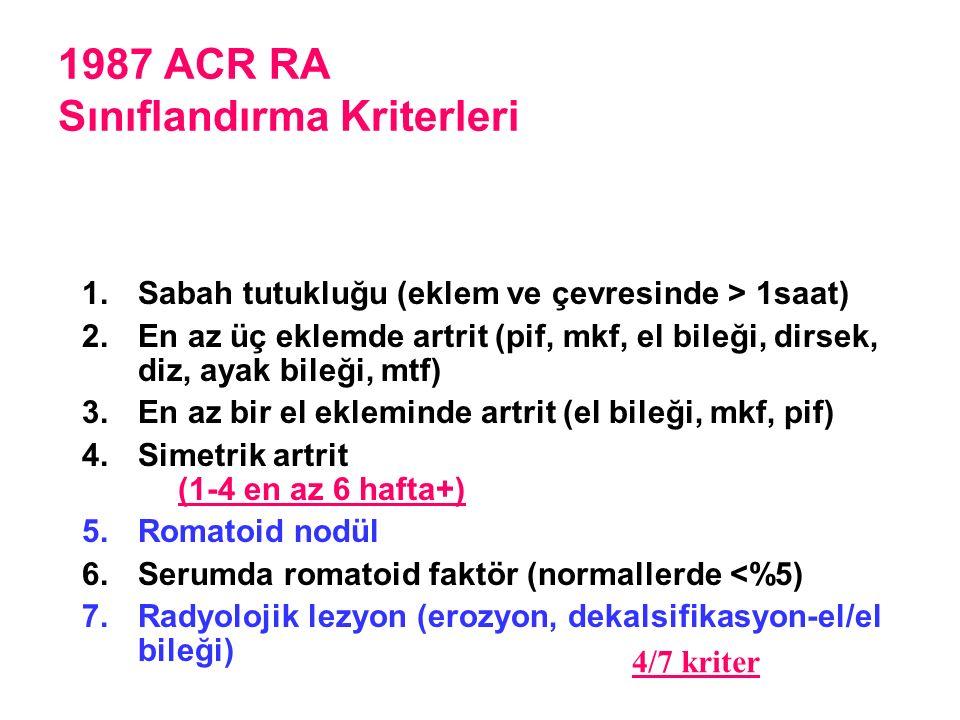 1987 ACR RA Sınıflandırma Kriterleri