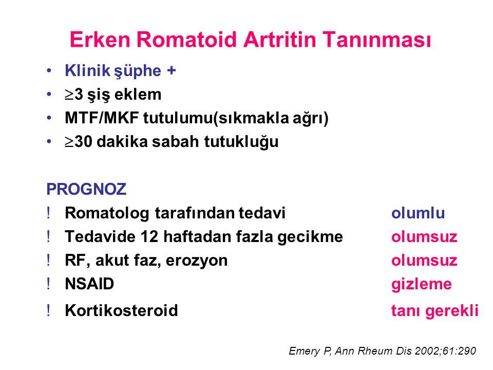 Erken Romatoid Artritin Tanınması