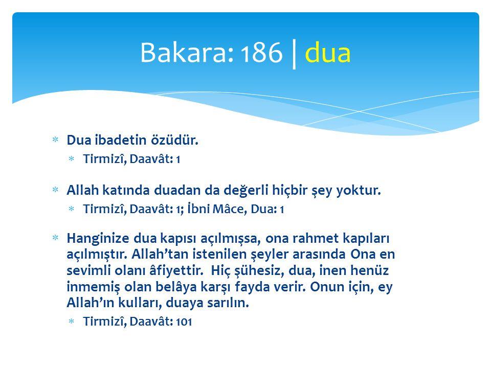 Bakara: 186 | dua Dua ibadetin özüdür.