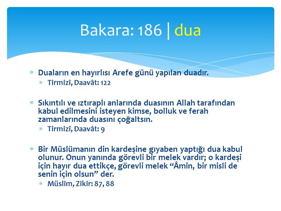 Bakara: 186 | dua Duaların en hayırlısı Arefe günü yapılan duadır.