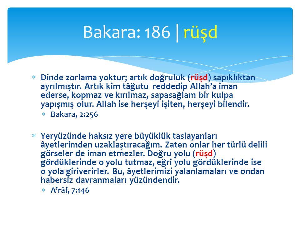 Bakara: 186 | rüşd