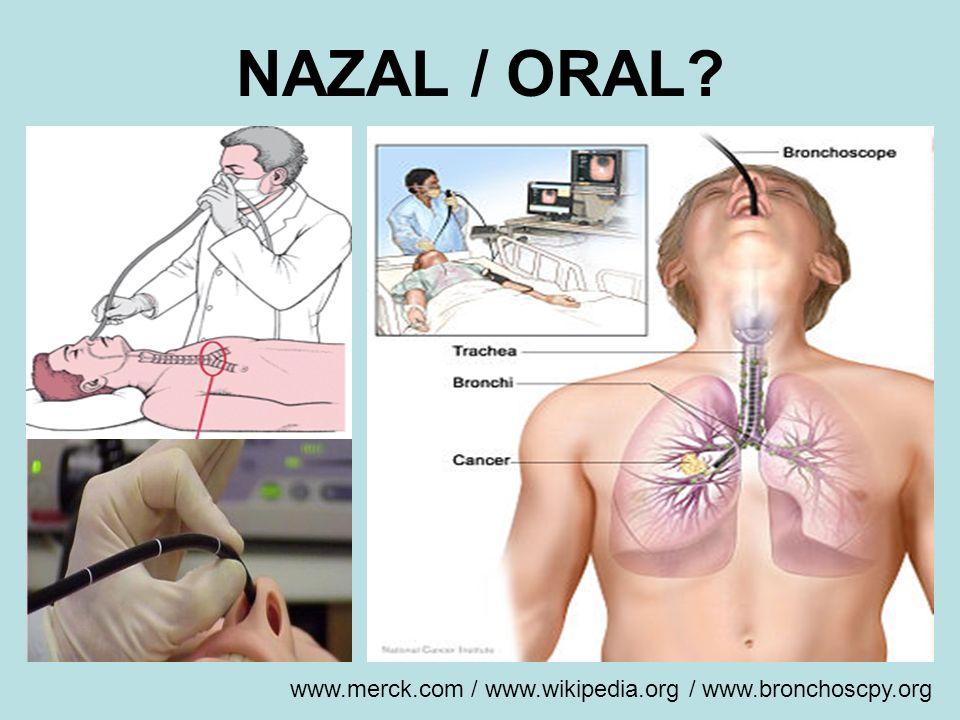 NAZAL / ORAL www.merck.com / www.wikipedia.org / www.bronchoscpy.org