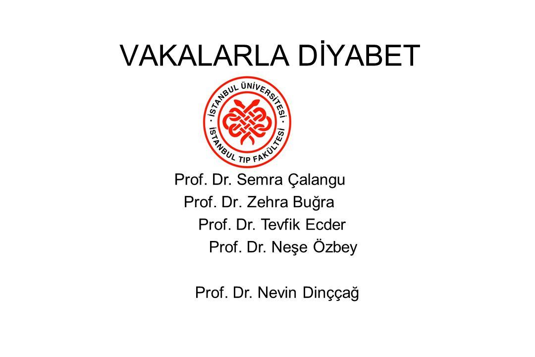 VAKALARLA DİYABET Prof. Dr. Semra Çalangu Prof. Dr. Zehra Buğra