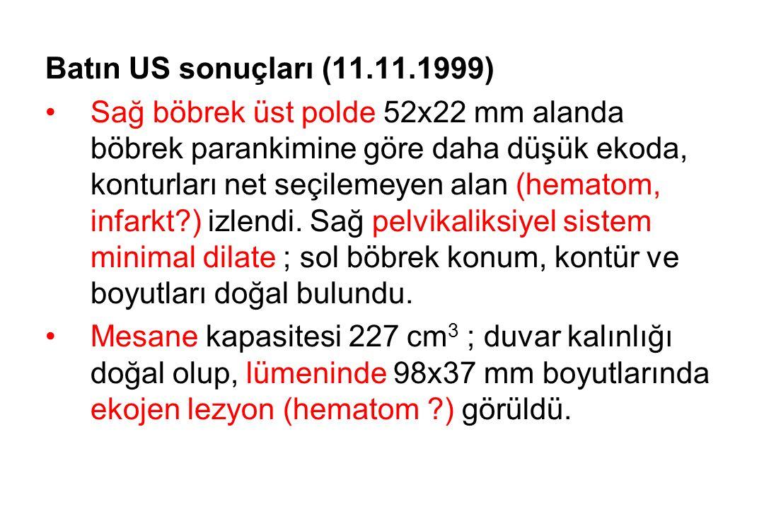 Batın US sonuçları (11.11.1999)