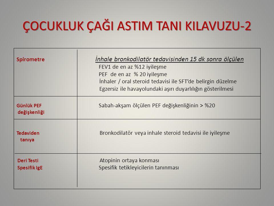 ÇOCUKLUK ÇAĞI ASTIM TANI KILAVUZU-2