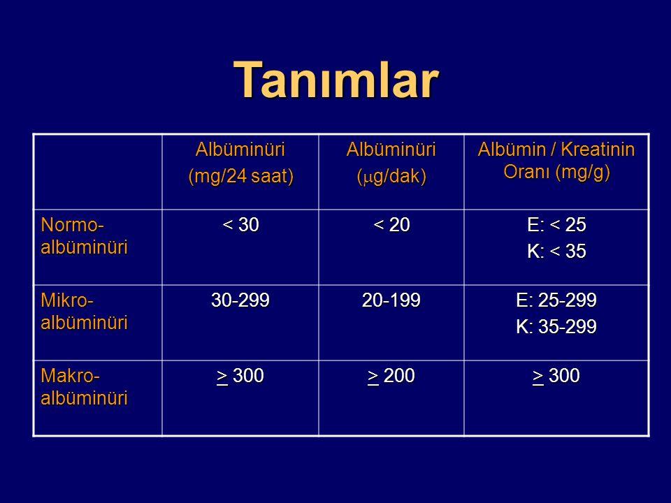Albümin / Kreatinin Oranı (mg/g)