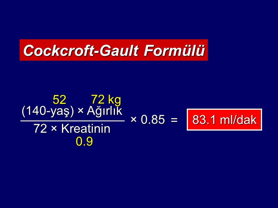 Cockcroft-Gault Formülü