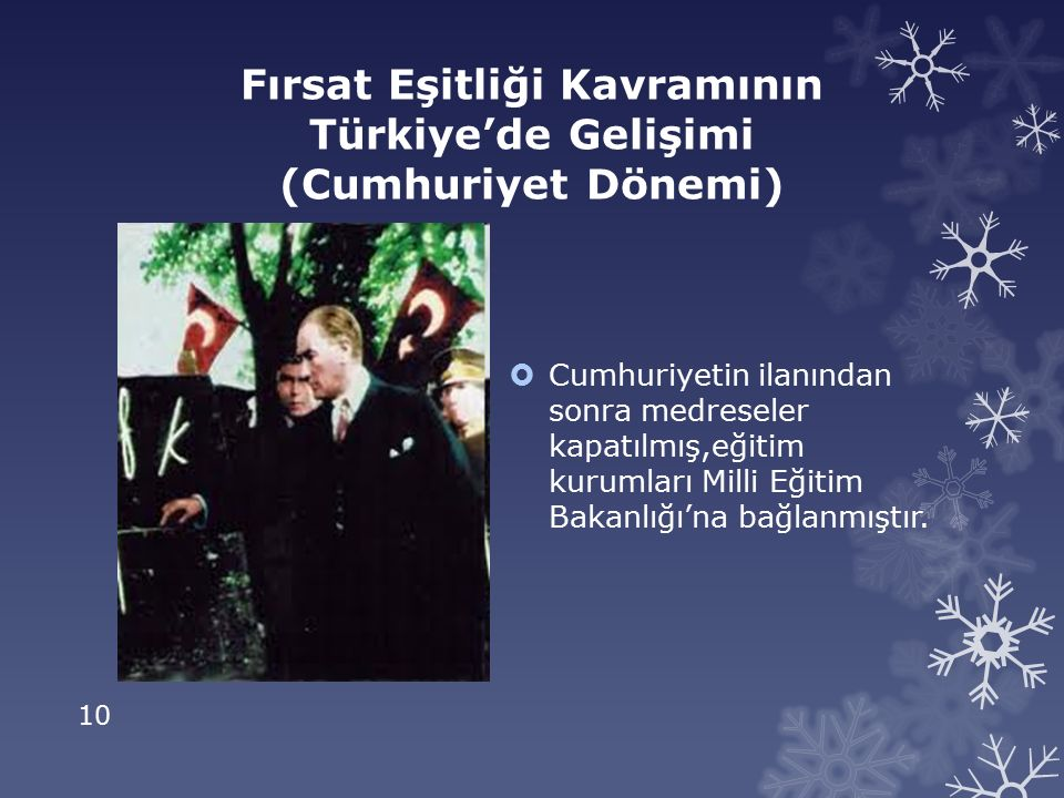 Fırsat Eşitliği Kavramının Türkiye'de Gelişimi (Cumhuriyet Dönemi)