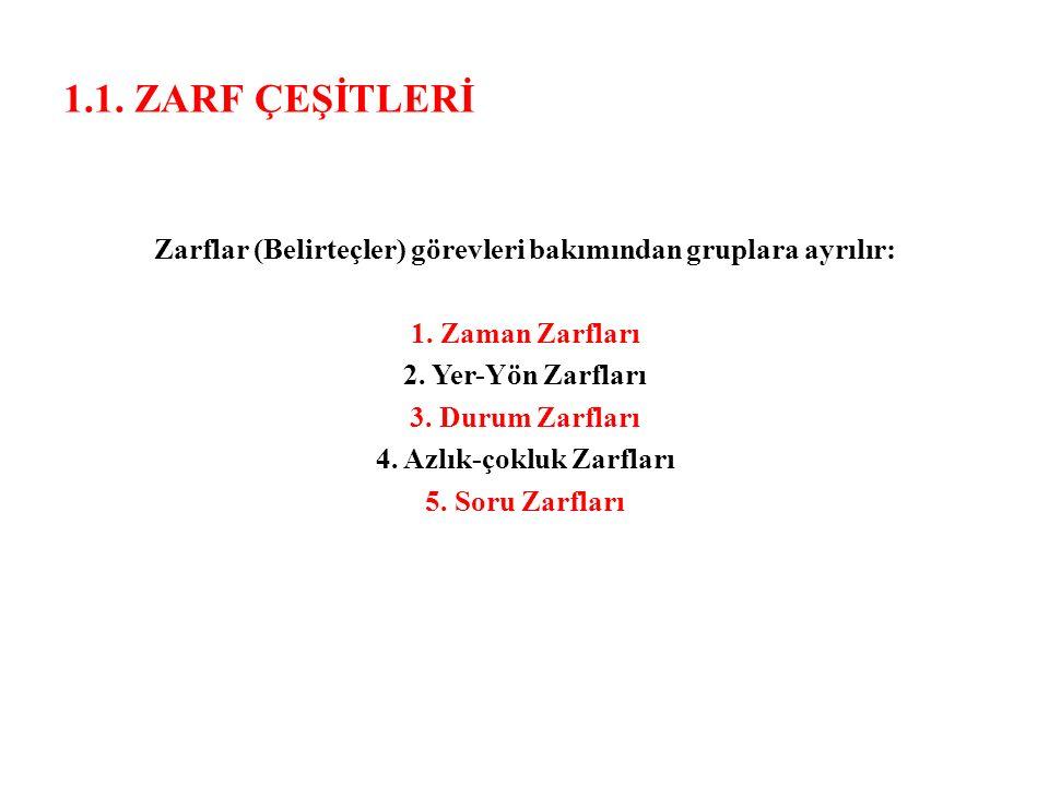 1.1. ZARF ÇEŞİTLERİ