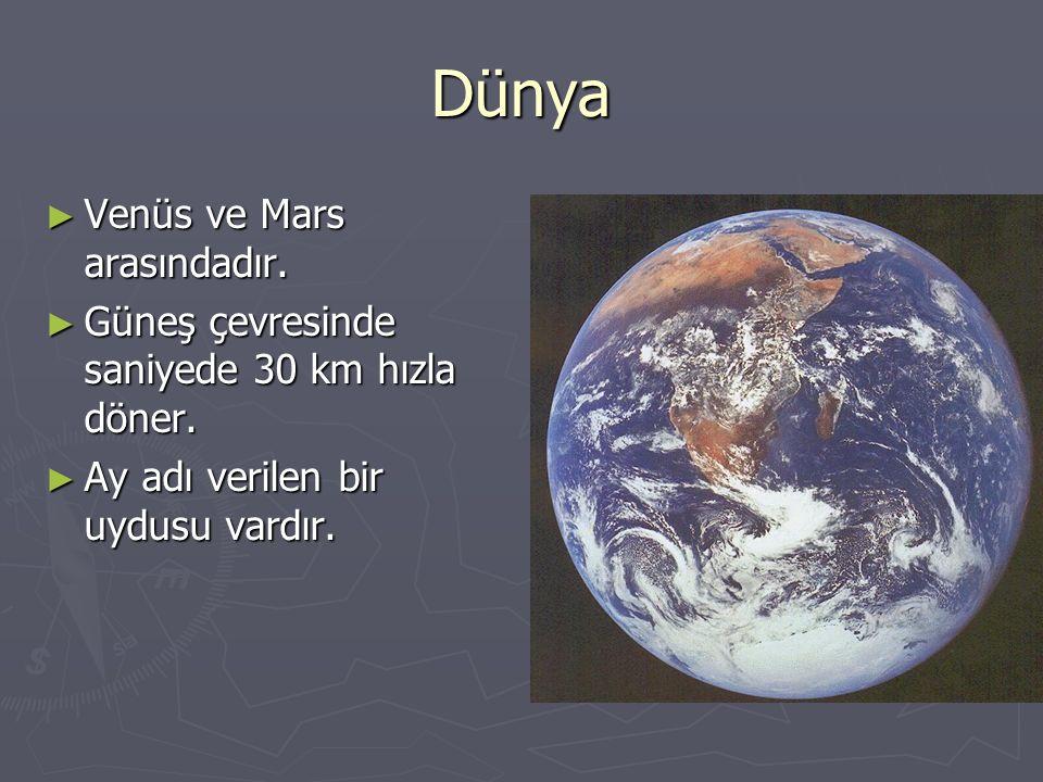 Dünya Venüs ve Mars arasındadır.