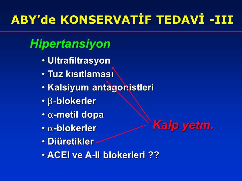 Hipertansiyon Kalp yetm. ABY'de KONSERVATİF TEDAVİ -III