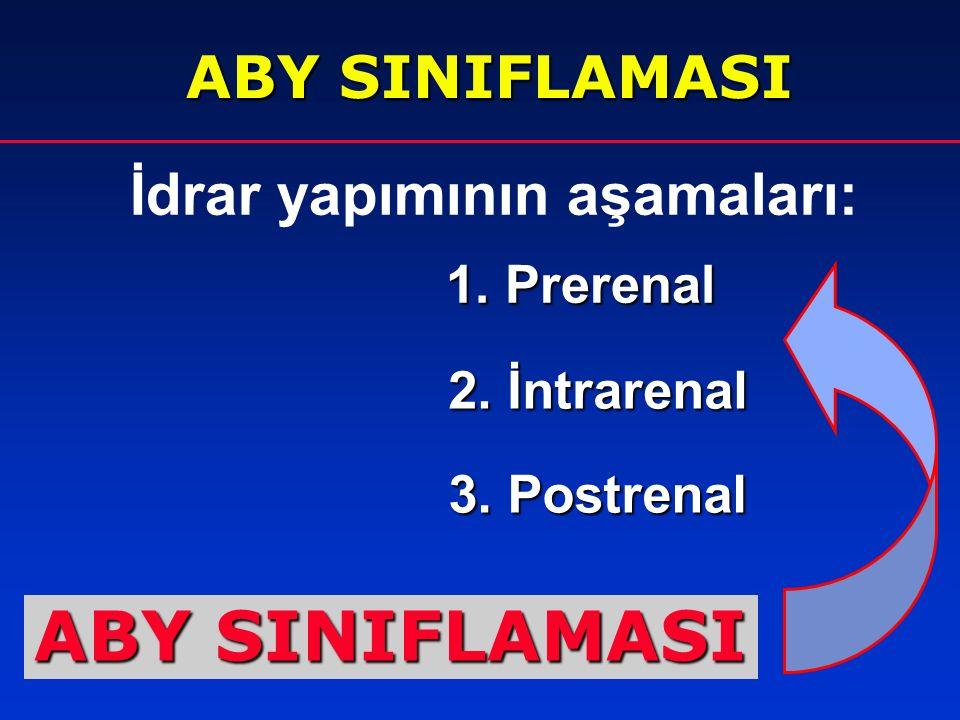 ABY SINIFLAMASI ABY SINIFLAMASI İdrar yapımının aşamaları: 1. Prerenal