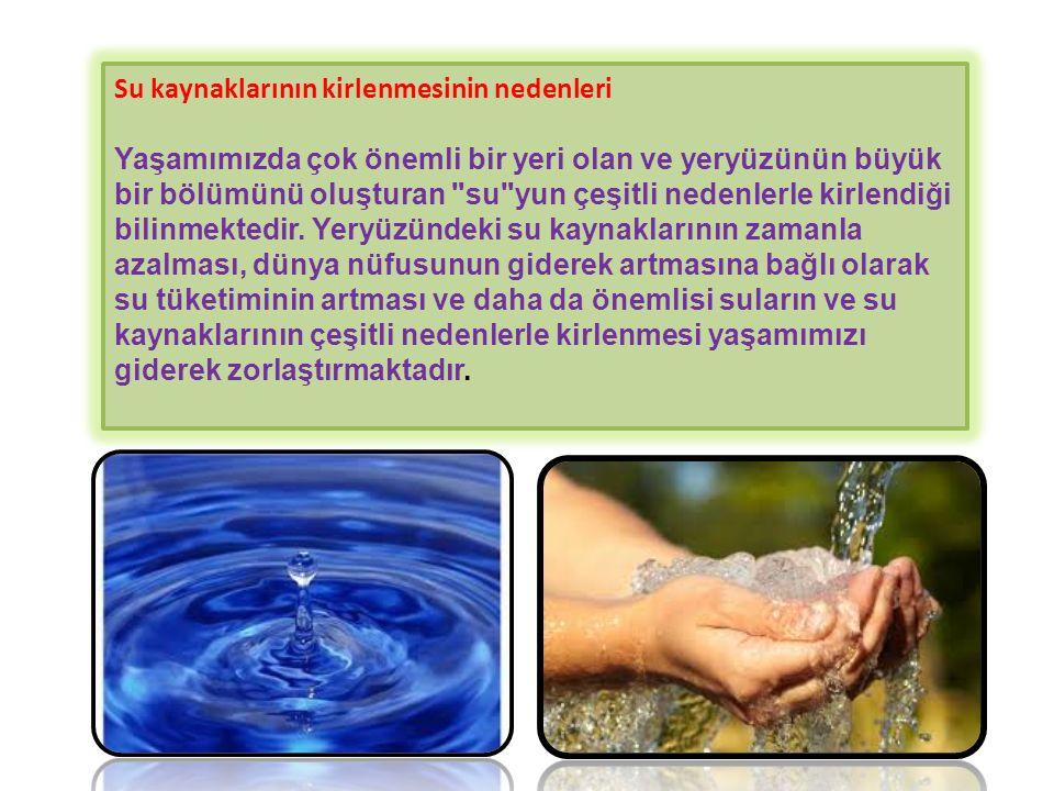 Su kaynaklarının kirlenmesinin nedenleri