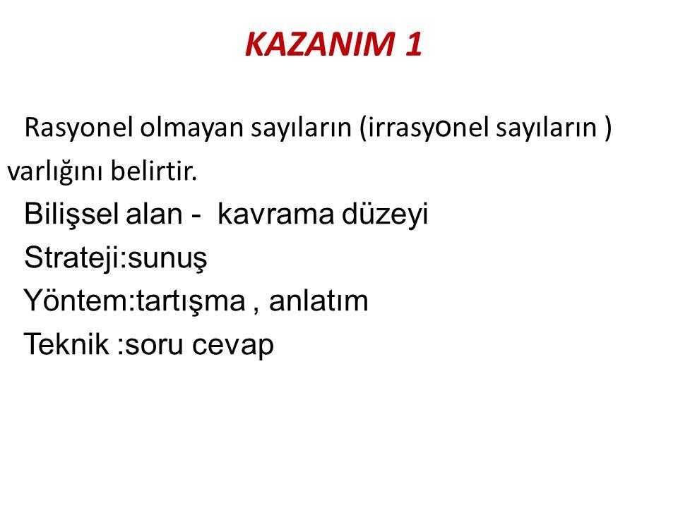 KAZANIM 1