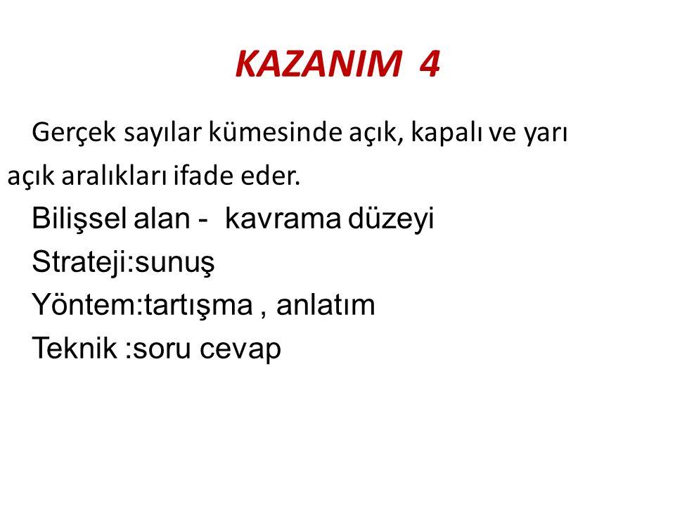 KAZANIM 4