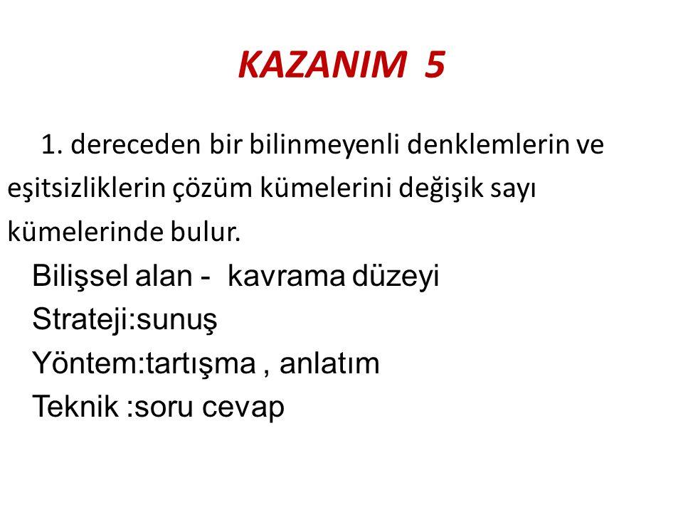 KAZANIM 5