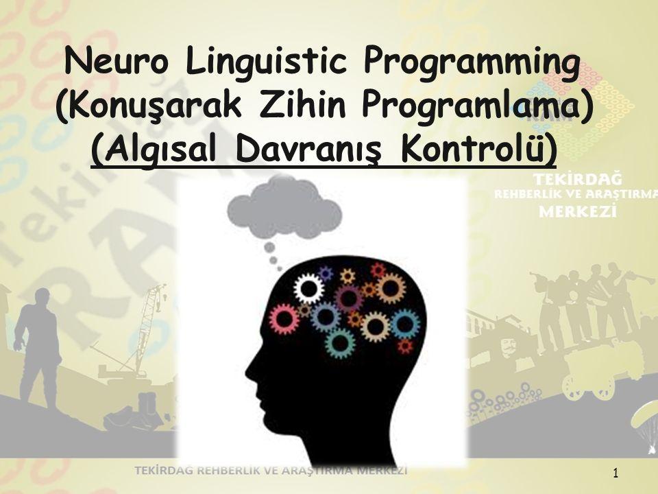 Neuro Linguistic Programming (Konuşarak Zihin Programlama)