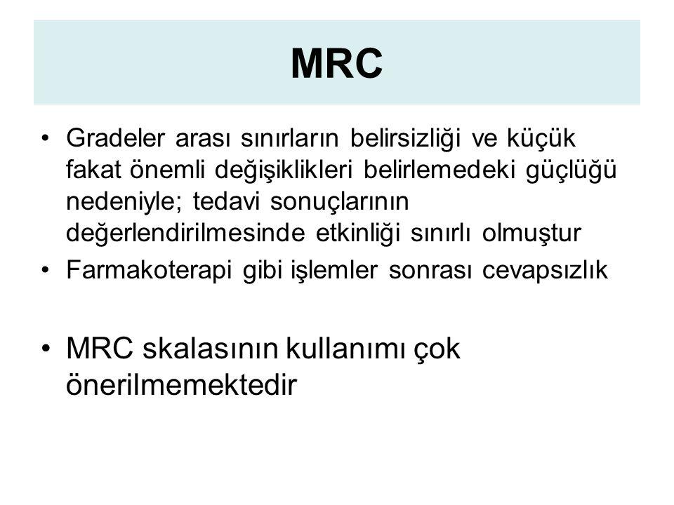 MRC MRC skalasının kullanımı çok önerilmemektedir