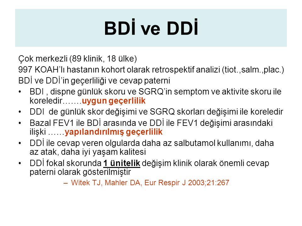 BDİ ve DDİ Çok merkezli (89 klinik, 18 ülke)