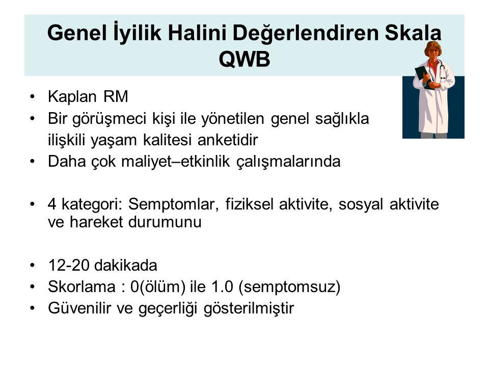 Genel İyilik Halini Değerlendiren Skala QWB