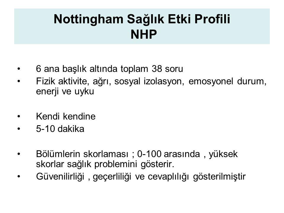 Nottingham Sağlık Etki Profili NHP