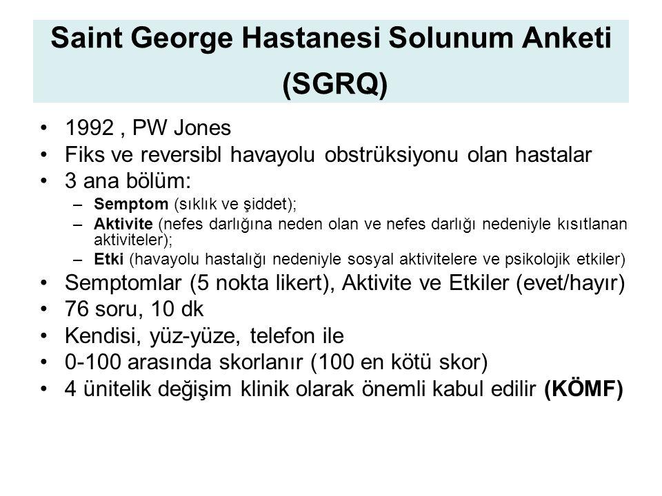 Saint George Hastanesi Solunum Anketi (SGRQ)