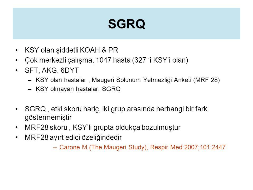 SGRQ KSY olan şiddetli KOAH & PR