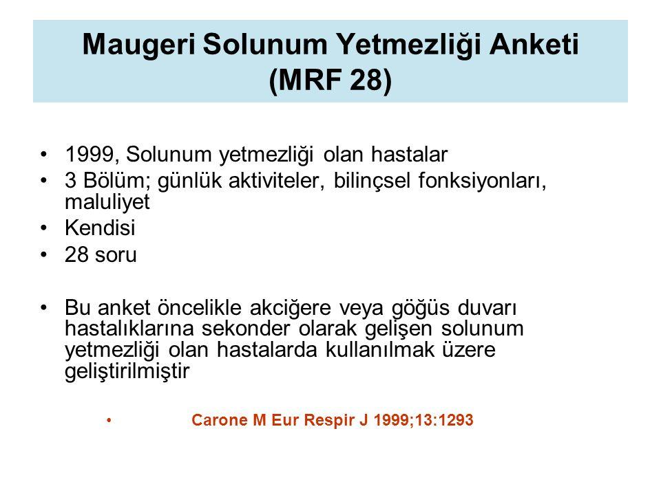 Maugeri Solunum Yetmezliği Anketi (MRF 28)