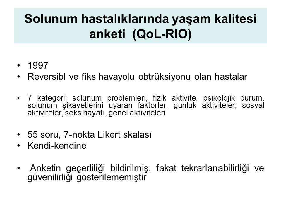 Solunum hastalıklarında yaşam kalitesi anketi (QoL-RIO)