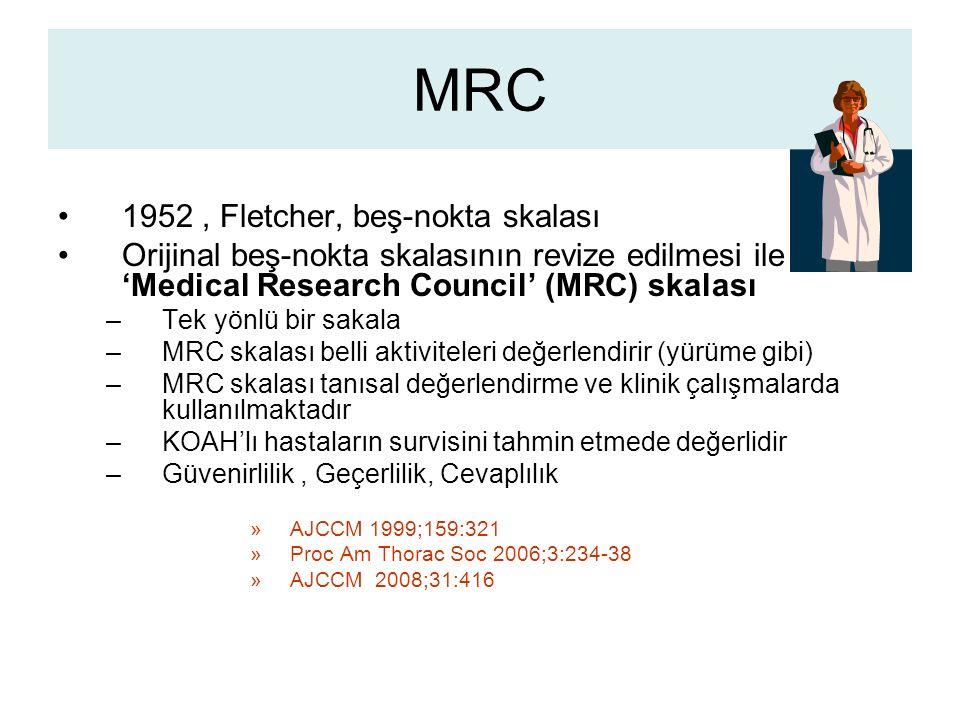 MRC 1952 , Fletcher, beş-nokta skalası