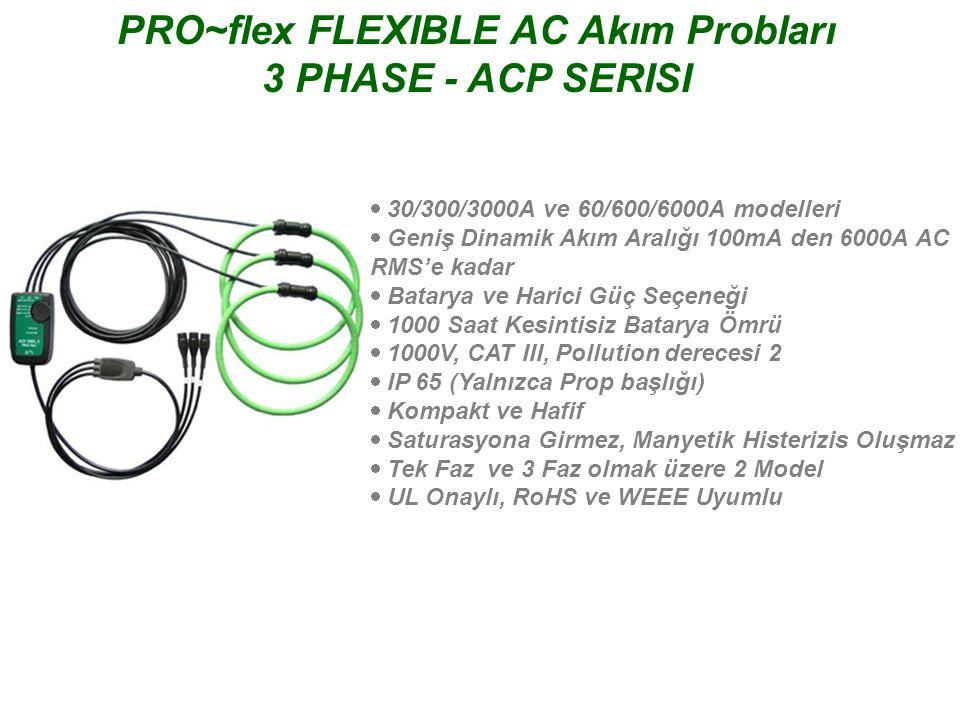 PRO~flex FLEXIBLE AC Akım Probları