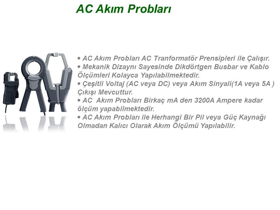 AC Akım Probları · AC Akım Probları AC Tranformatör Prensipleri ile Çalışır.